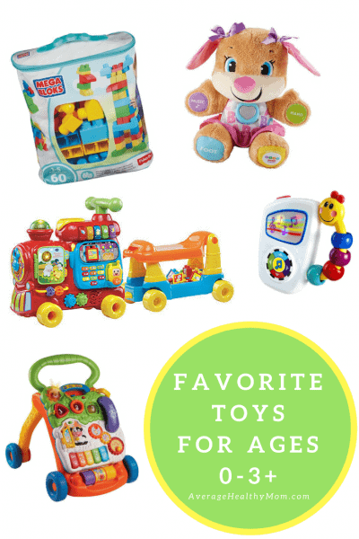 Favorite Toys for Ages 0-3+