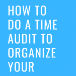 Time Audit Schedule Organization
