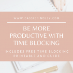 Time Blocking Printable Productivity