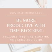 Time Blocking Printable Productivity