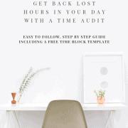 Time Audit Schedule Organization