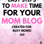 Mom Blog Schedule