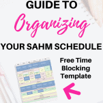 Time Blocking Template Schedule